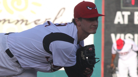 Burch Smith made two relief appearances in the Arizona League last season.