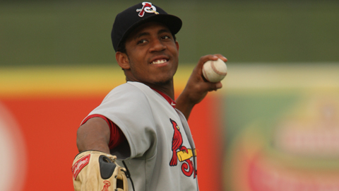 Springfield's Oscar Taveras leads the Texas League with a .323 average.